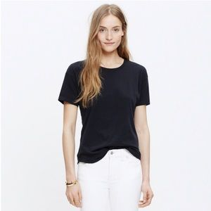 Madewell whisper cotton solid black T-shirt